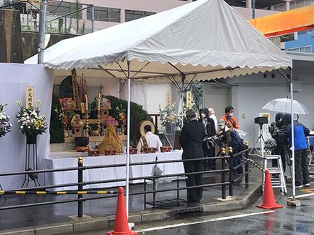 京橋駅空襲被災者慰霊祭